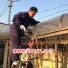鉄工所がアルミ製の通路屋根を修理するとこうなる