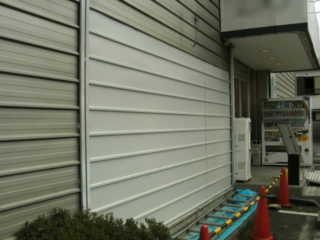 修復された外壁パネル