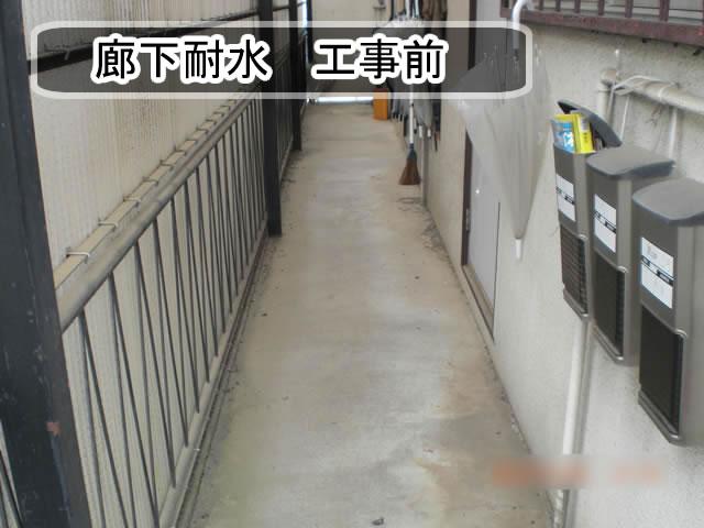 廊下耐水 工事前