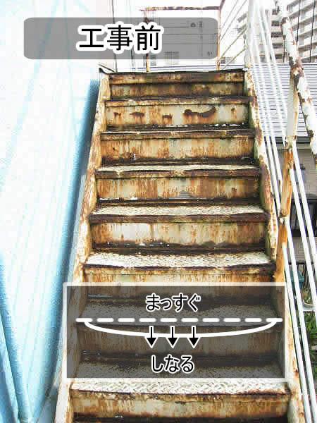 階段の段板の「しなり」