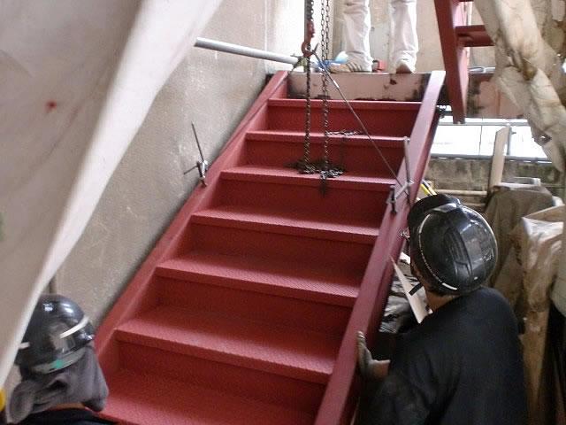 鉄骨階段の新調