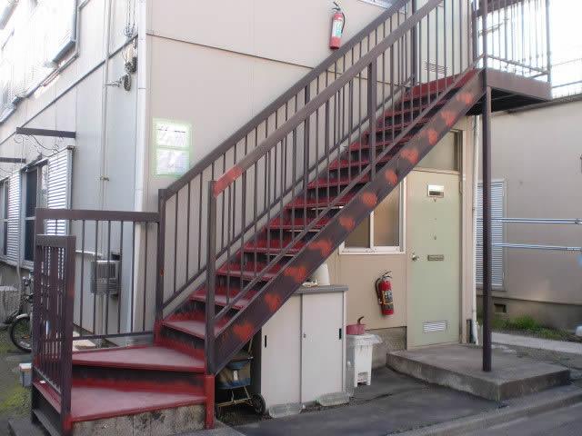 鉄骨階段の補修工事