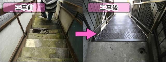 鉄骨階段の通気性向上