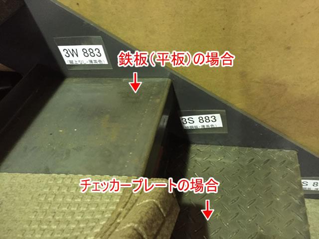 タキステップの下地鉄板やチェッカープレート
