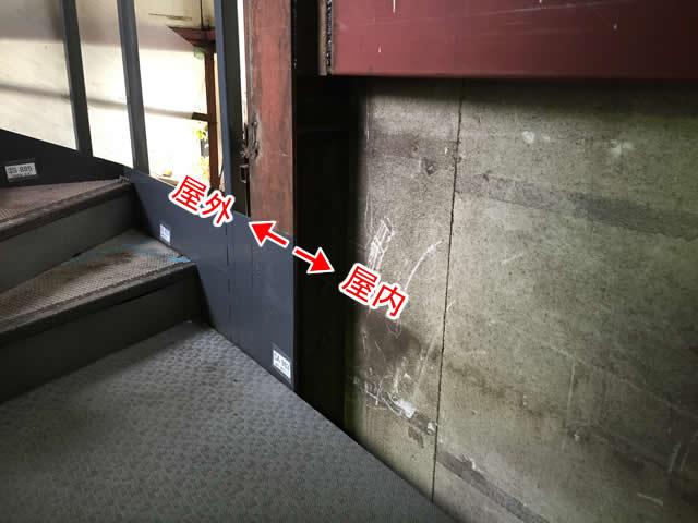 タキステップの屋内階段、屋外階段