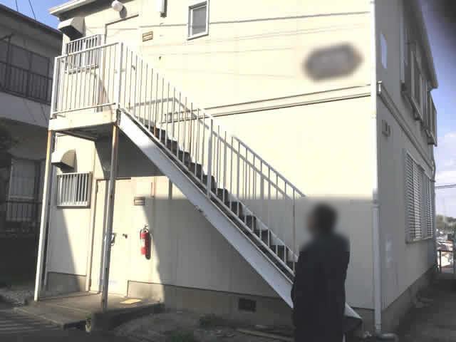 外階段の腐食診断
