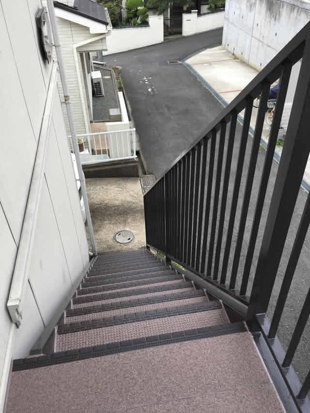外階段のタキステップ工事