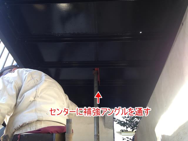 鉄骨廊下の床補強工事