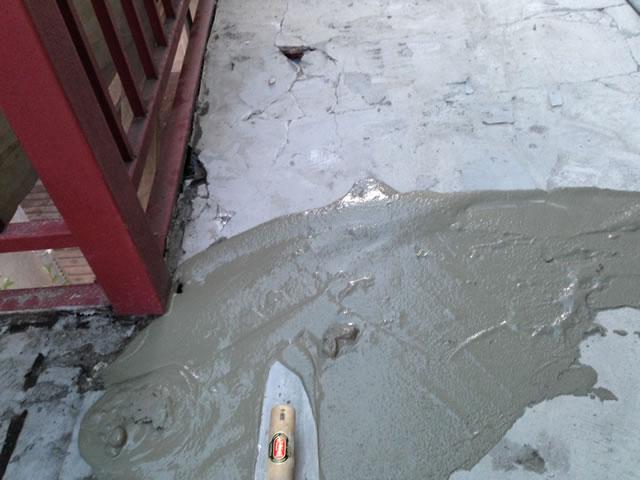 床面モルタル補修