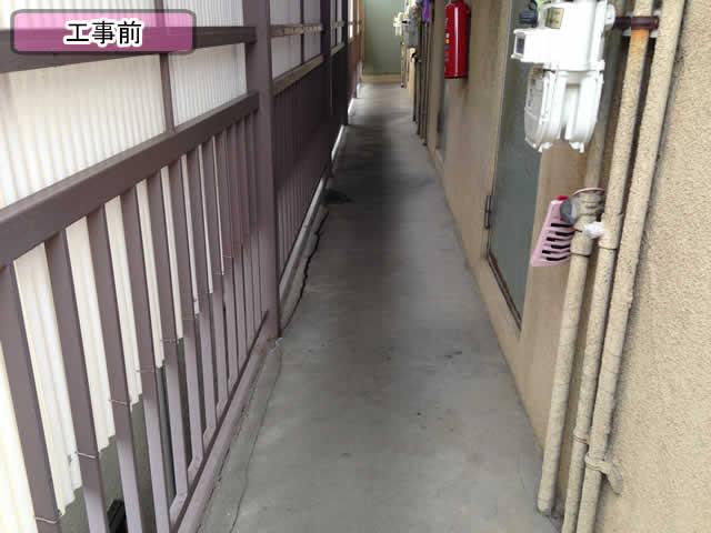 アパートの共用廊下