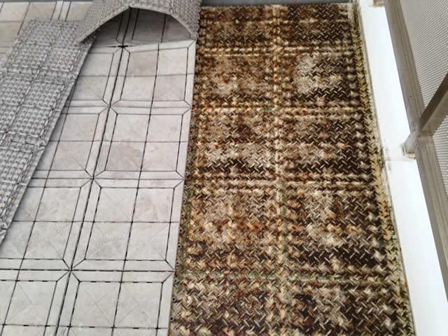 バルコニー床鉄板の腐食