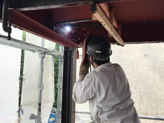 鉄骨の溶接修理