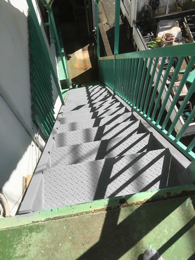 外階段の延命リニューアル工事