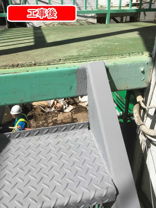 外階段の踏み板交換