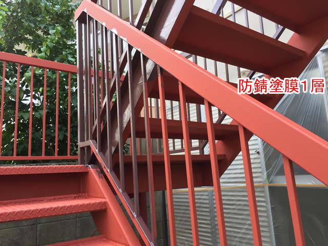 鋼製設備の防錆塗膜1層