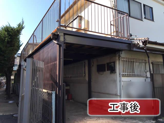 修繕後の鉄骨ガレージ(1)
