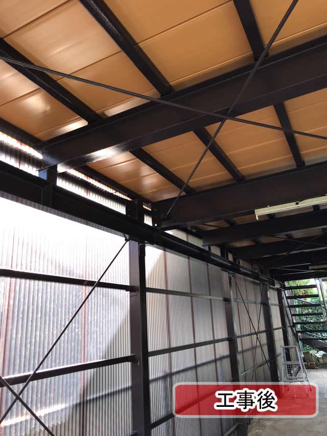 修繕後の鉄骨ガレージ(2)