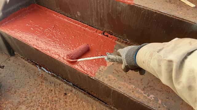 鉄部の防錆塗装