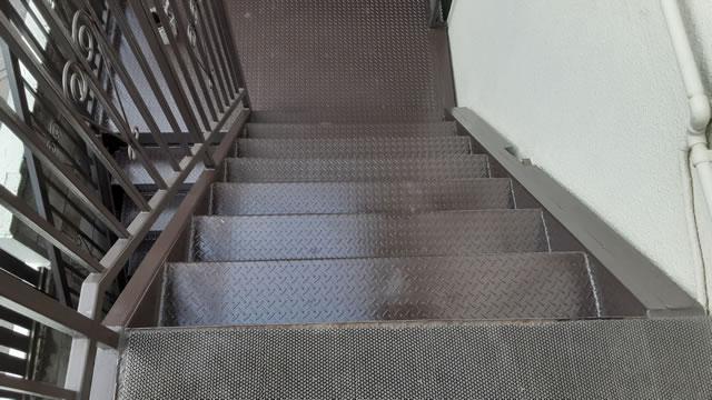 外階段の増し張り補強